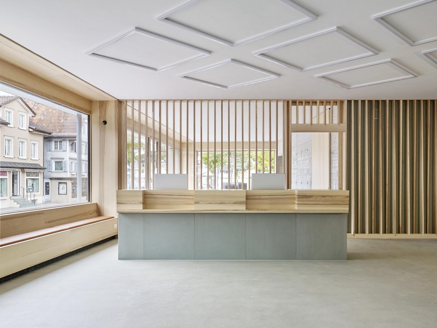 Empfangstheke © Zimmer Schmidt Architekten