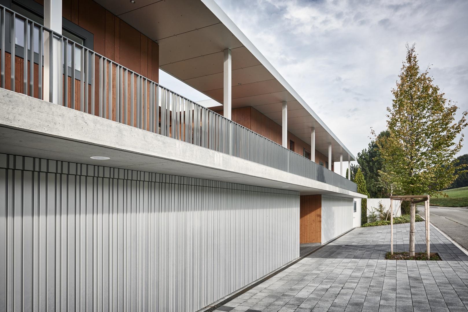 Aussenansicht_Garagentore © Hunziker Architekten AG