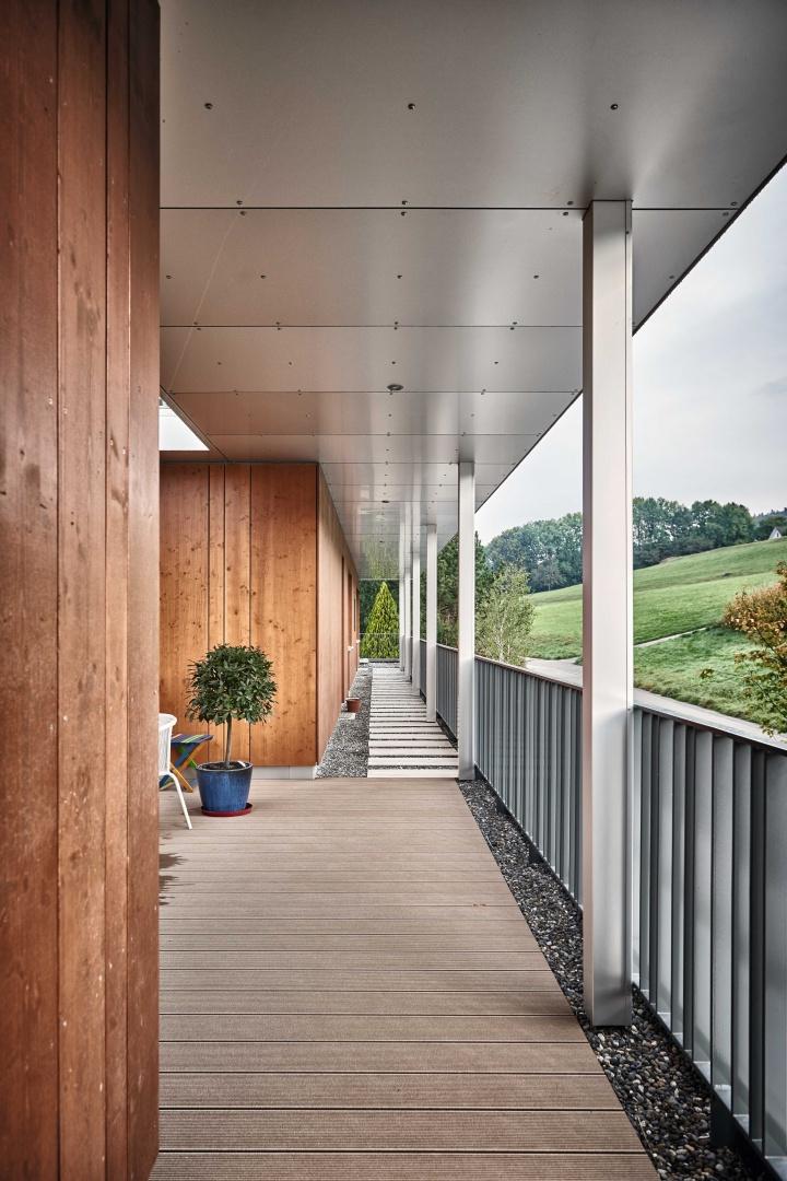 Aussenansicht_Terrasse © Hunziker Architekten AG