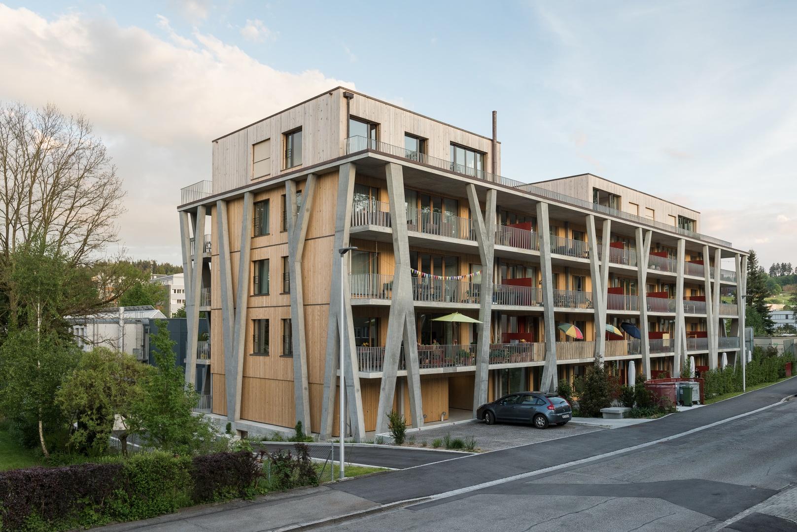 Nord- und Westfassade © Christine Blaser, Bildaufbau, Sandrainstrasse 3 3007 Bern