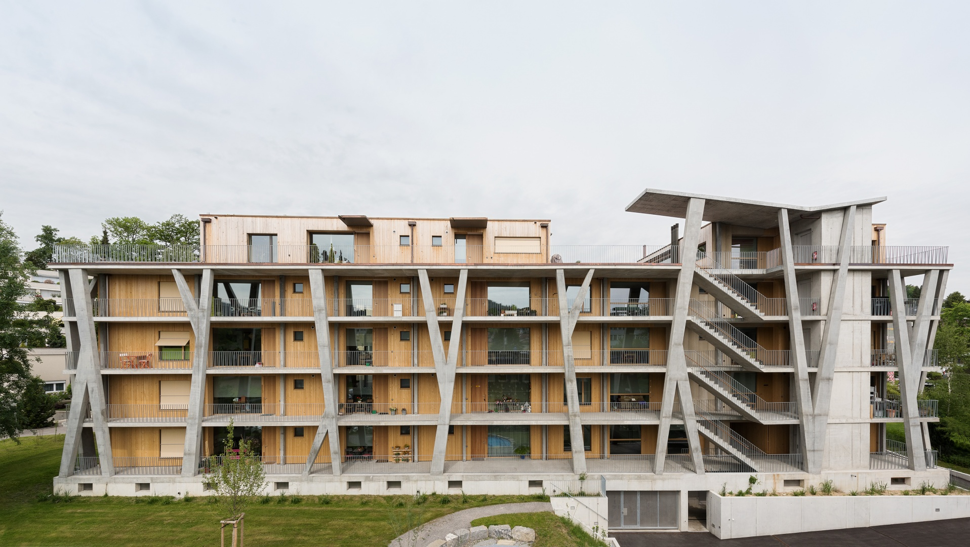Ostfassade © Christine Blaser, Bildaufbau, Sandrainstrasse 3 3007 Bern