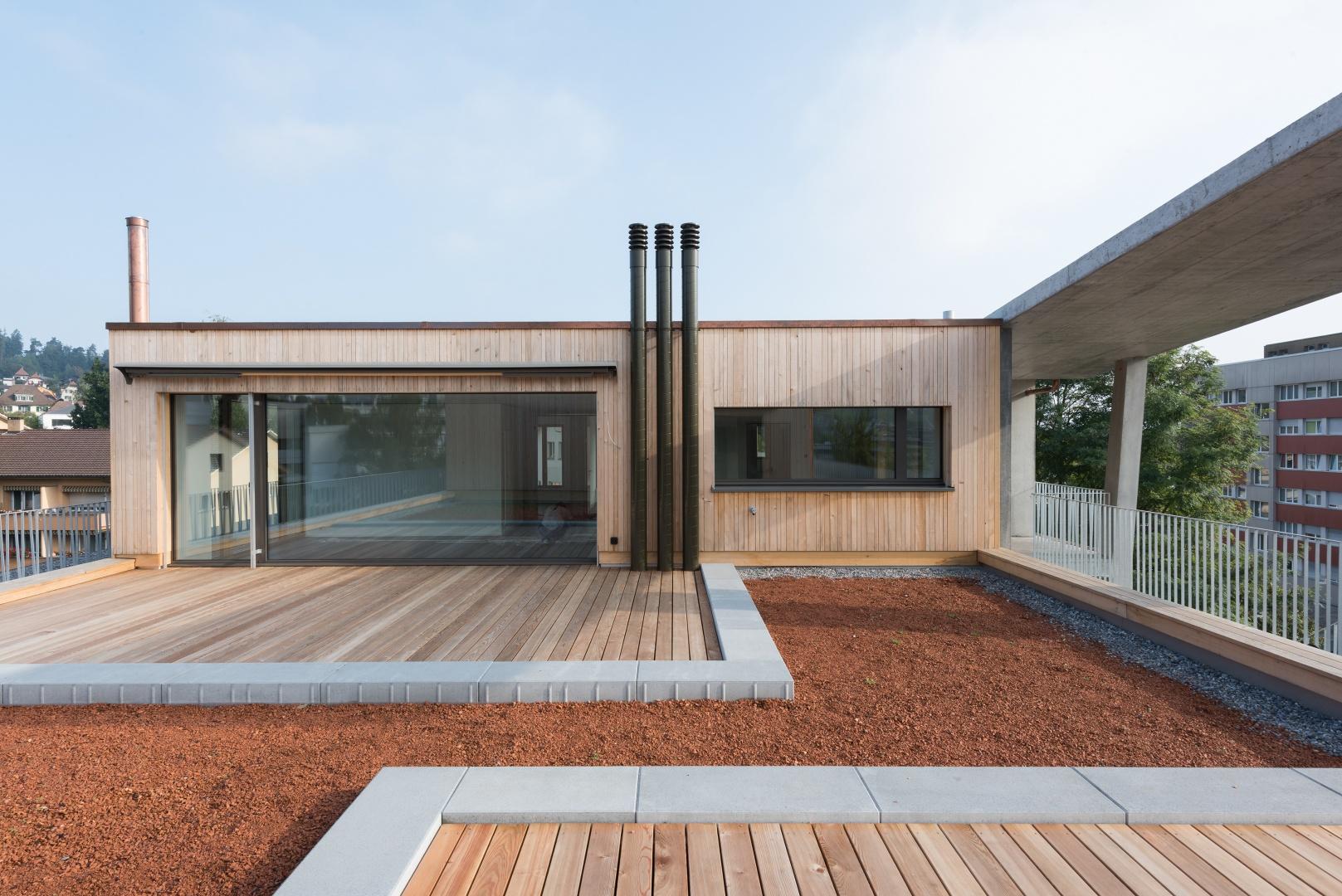 Attika mit Terrasse © Christine Blaser, Bildaufbau, Sandrainstrasse 3 3007 Bern