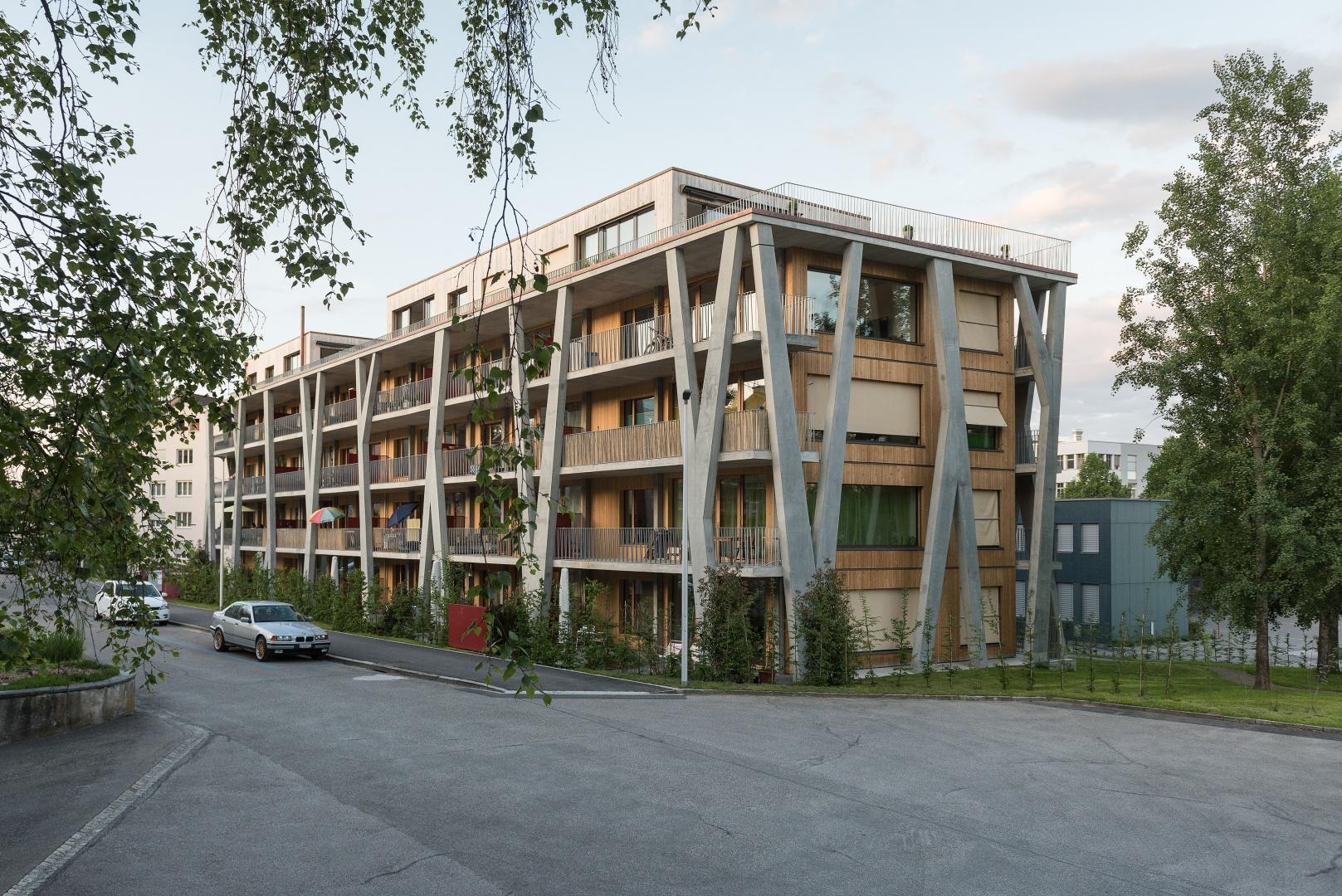 West- und Südfassade © Christine Blaser, Bildaufbau, Sandrainstrasse 3 3007 Bern