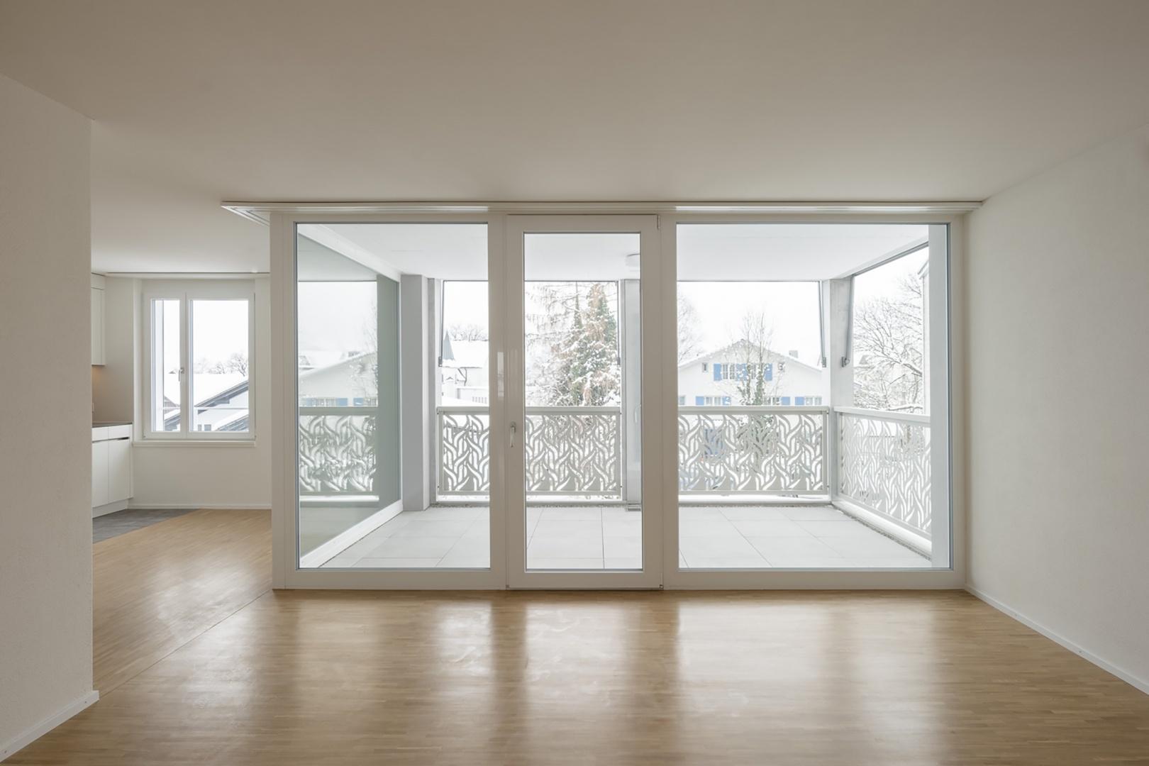 Eingezogene Loggien als individuelle Aussenräume © Stephan Bösch, St. Gallen 2017