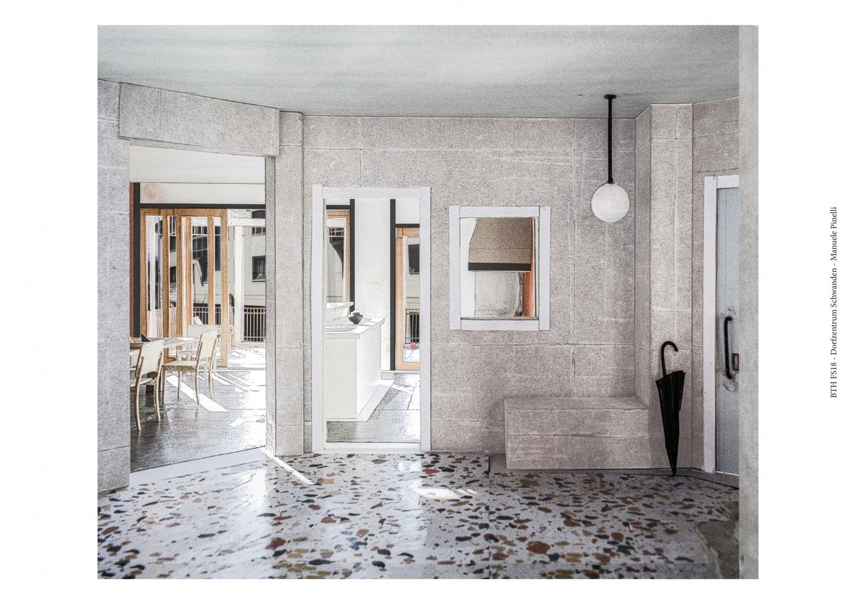 Modellfotografie Treppenhaus © Manuele Pinelli