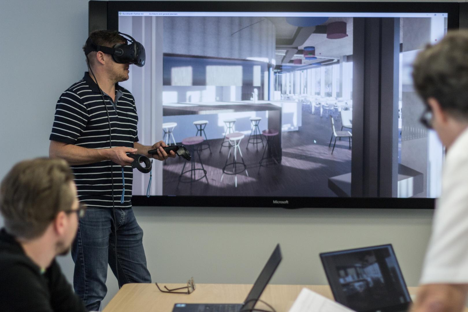 Virtual Reality Sitzung © Burckhardt+Partner AG
