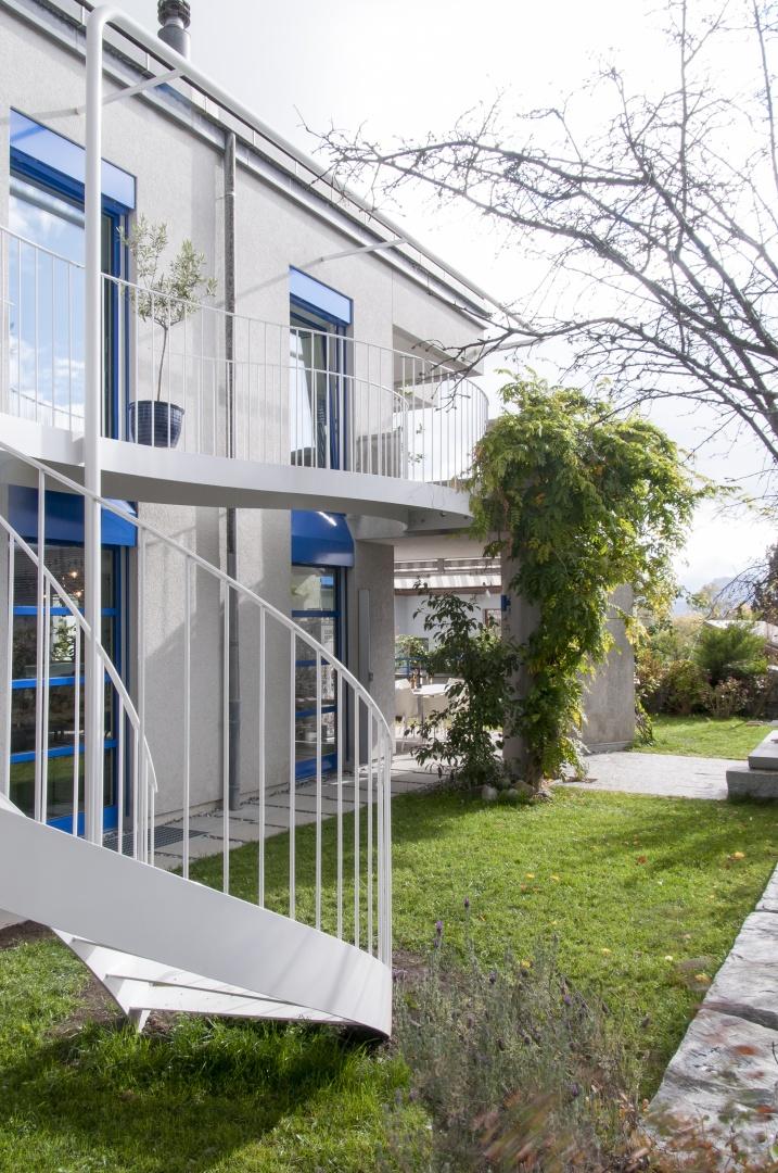 Gartentreppe vor Bestandfassade © © DU STUDIO, Zürich