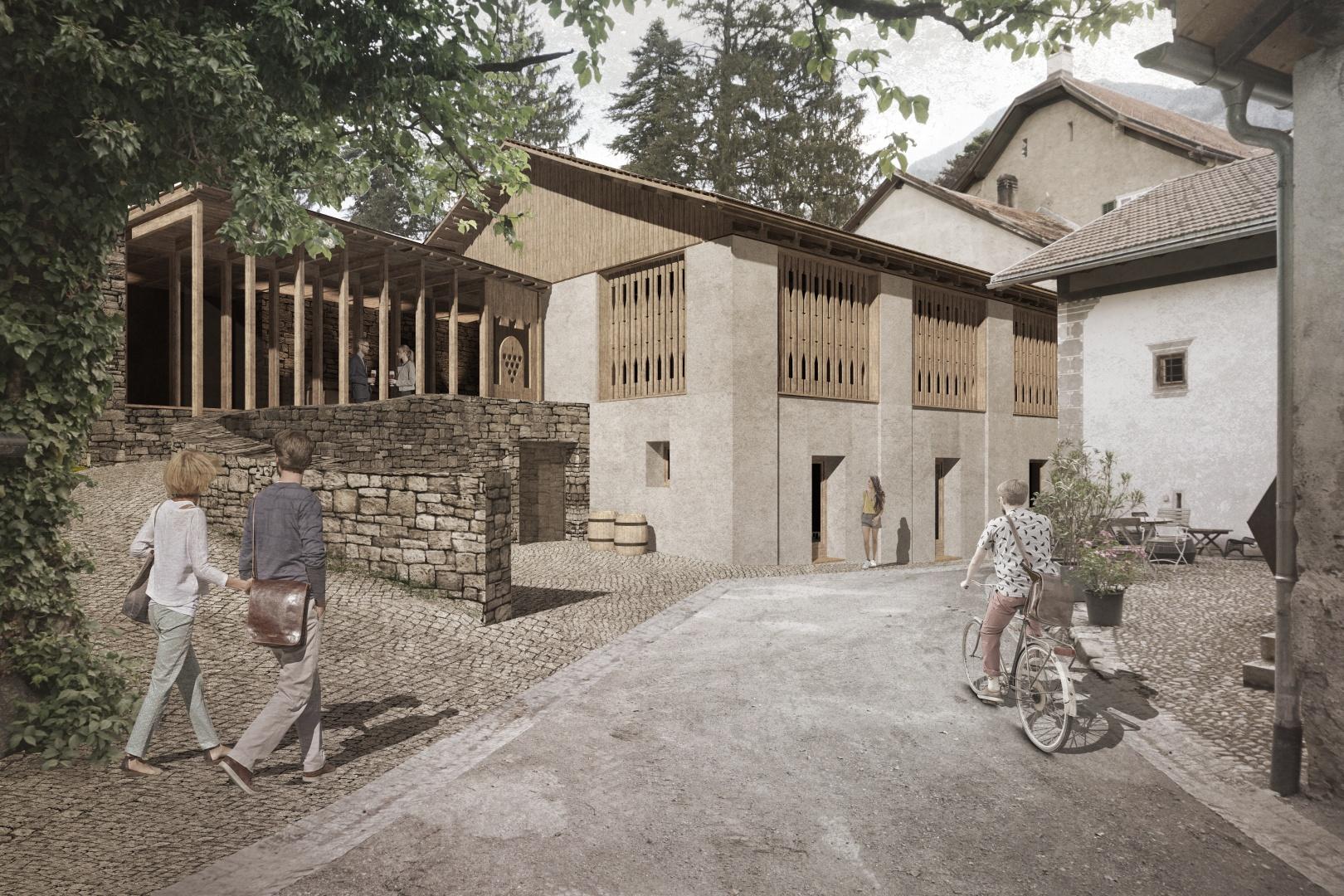 Visualisierung Schlossgasse © Larissa Giuanna Cavegn