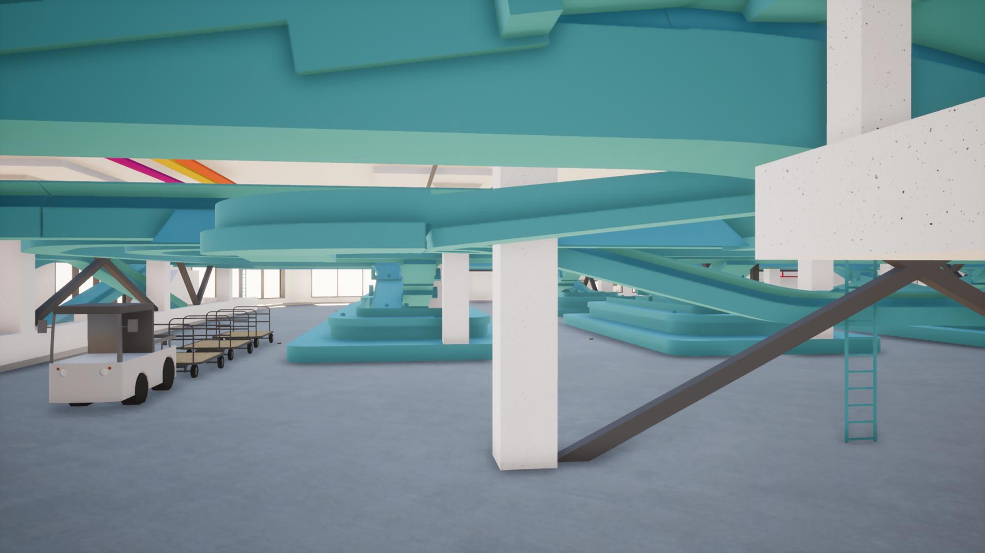 Flughafen Zürich, Zone A Gepäcksortierungsanlage (P16AA004