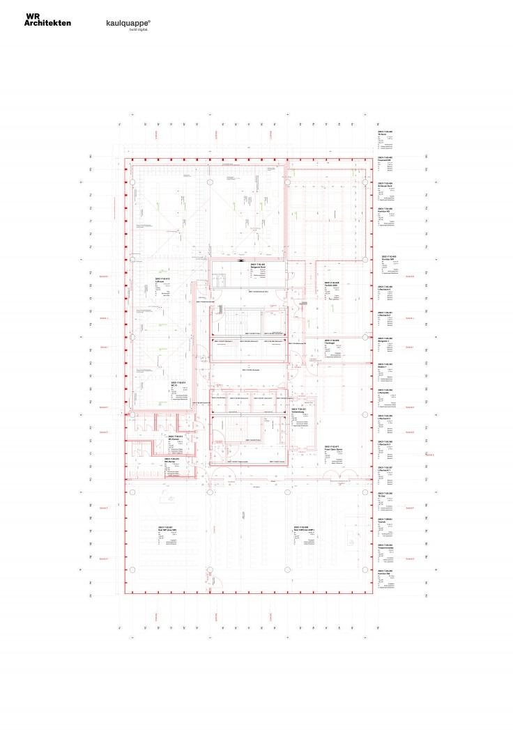 Grundriss 12. OG Neubauteile © WR Architekten AG