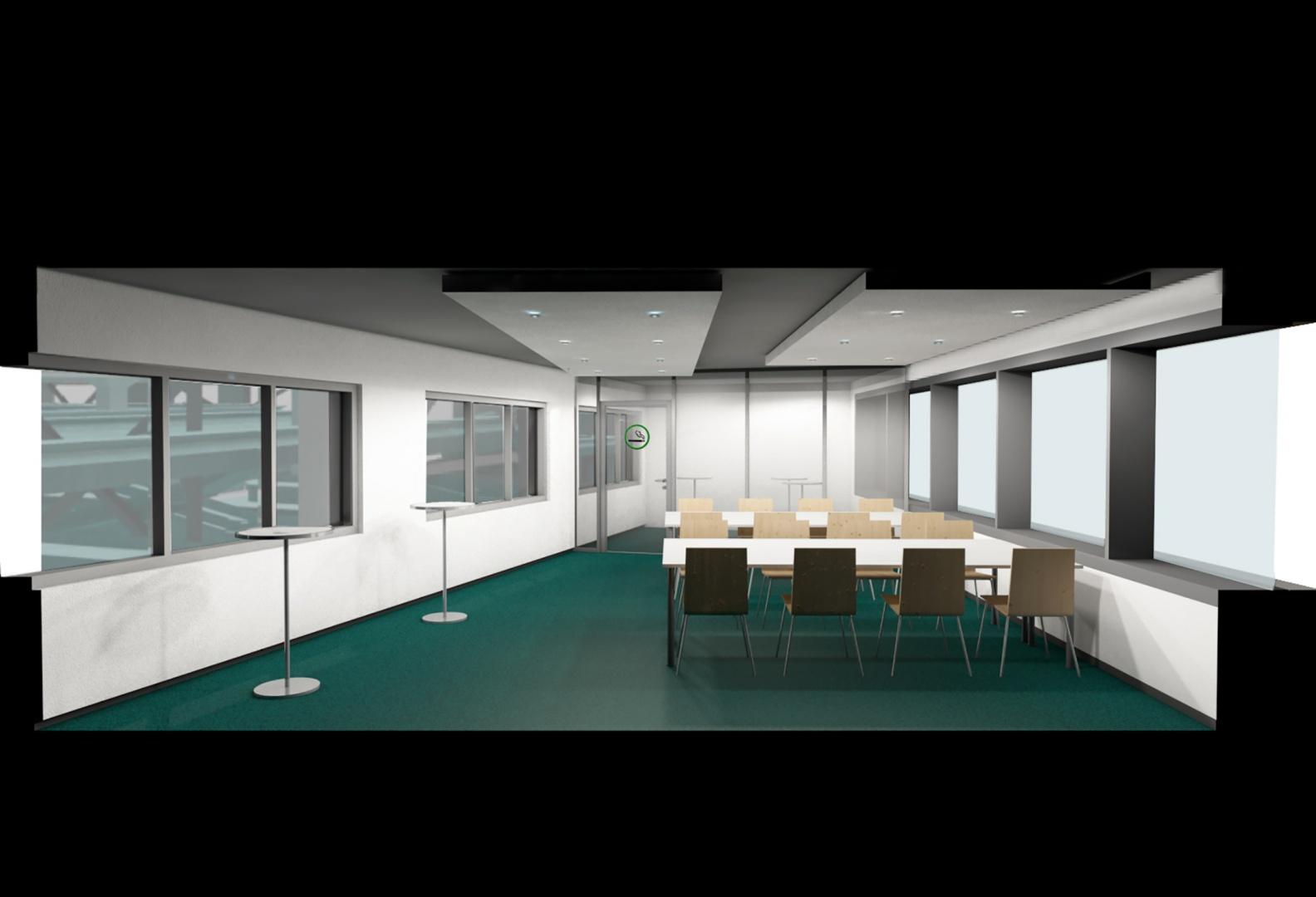 Visualisierung aus BIM Modell von Sitzungsszimmer © steigerconcept ag, Staffelstrasse 8, 8045 Zürich