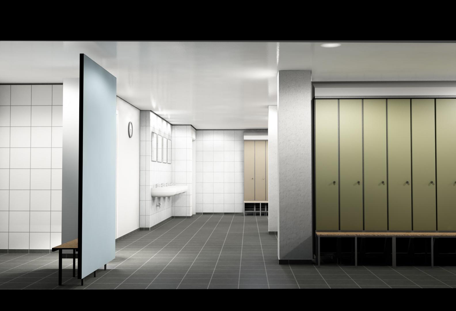 Visualisierung aus BIM Modell von Garderobe © steigerconcept ag, Staffelstrasse 8, 8045 Zürich
