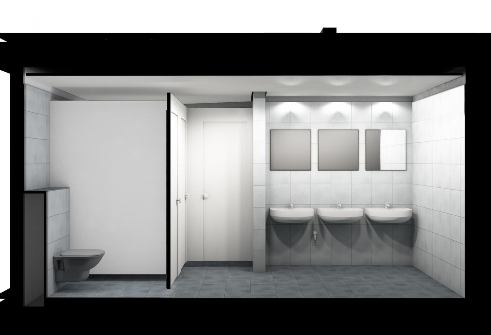 Visualisierung aus BIM Modell von Nasszelle © steigerconcept ag, Staffelstrasse 8, 8045 Zürich