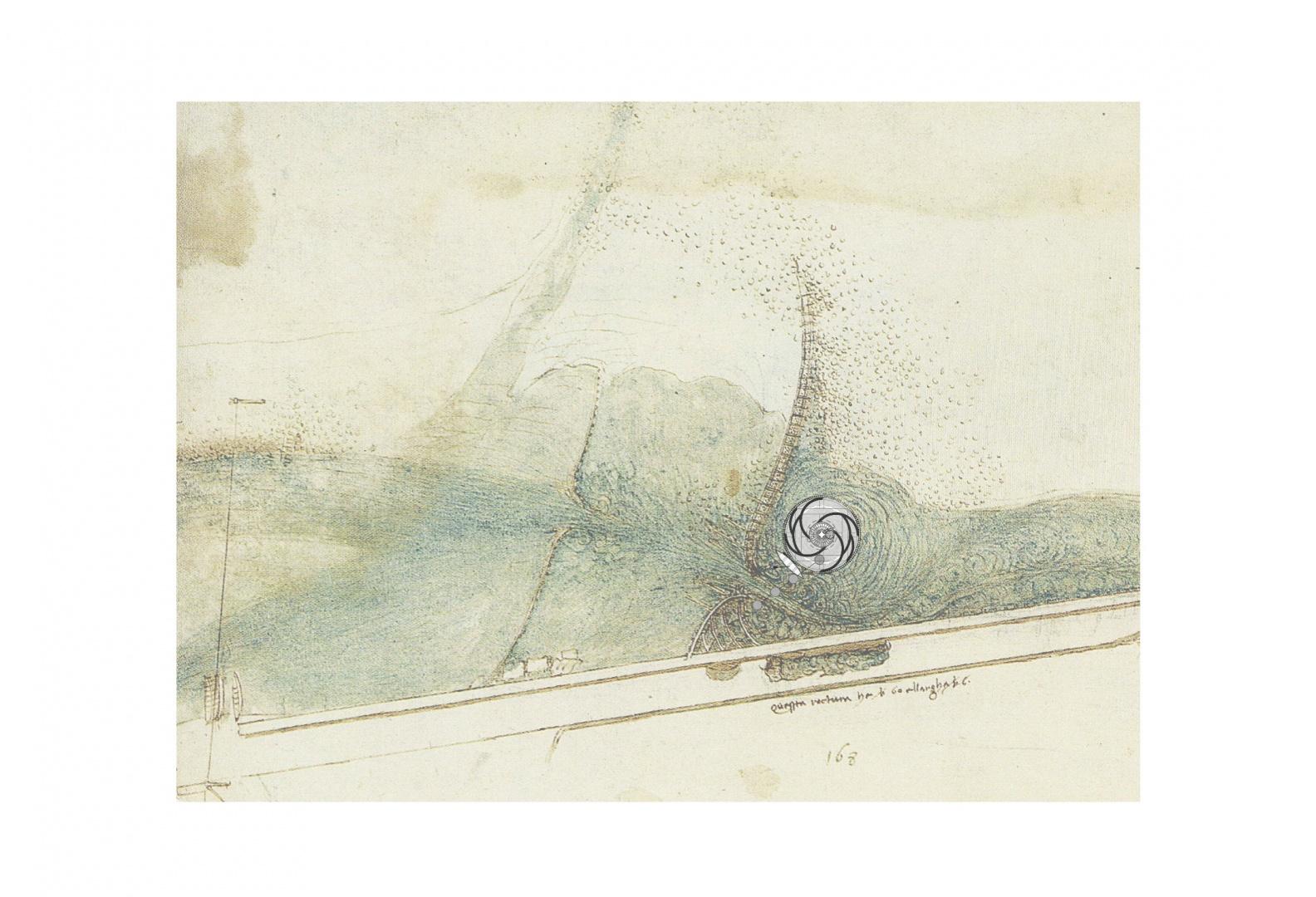 Sandort I Fluss Arno, Toskana © Barbara Ruech I Zöllner, F., & Nathan, J. (2003). Leonardo da Vinci I Das zeichnerische Werk I Band II. Taschen.