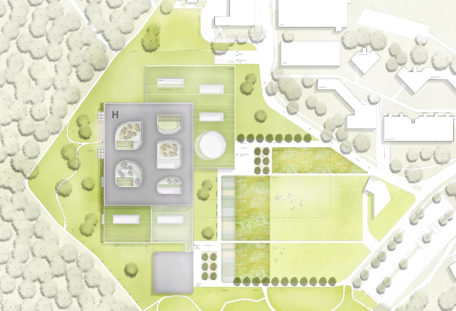 Situationsplan © Nickl & Partner Architekten