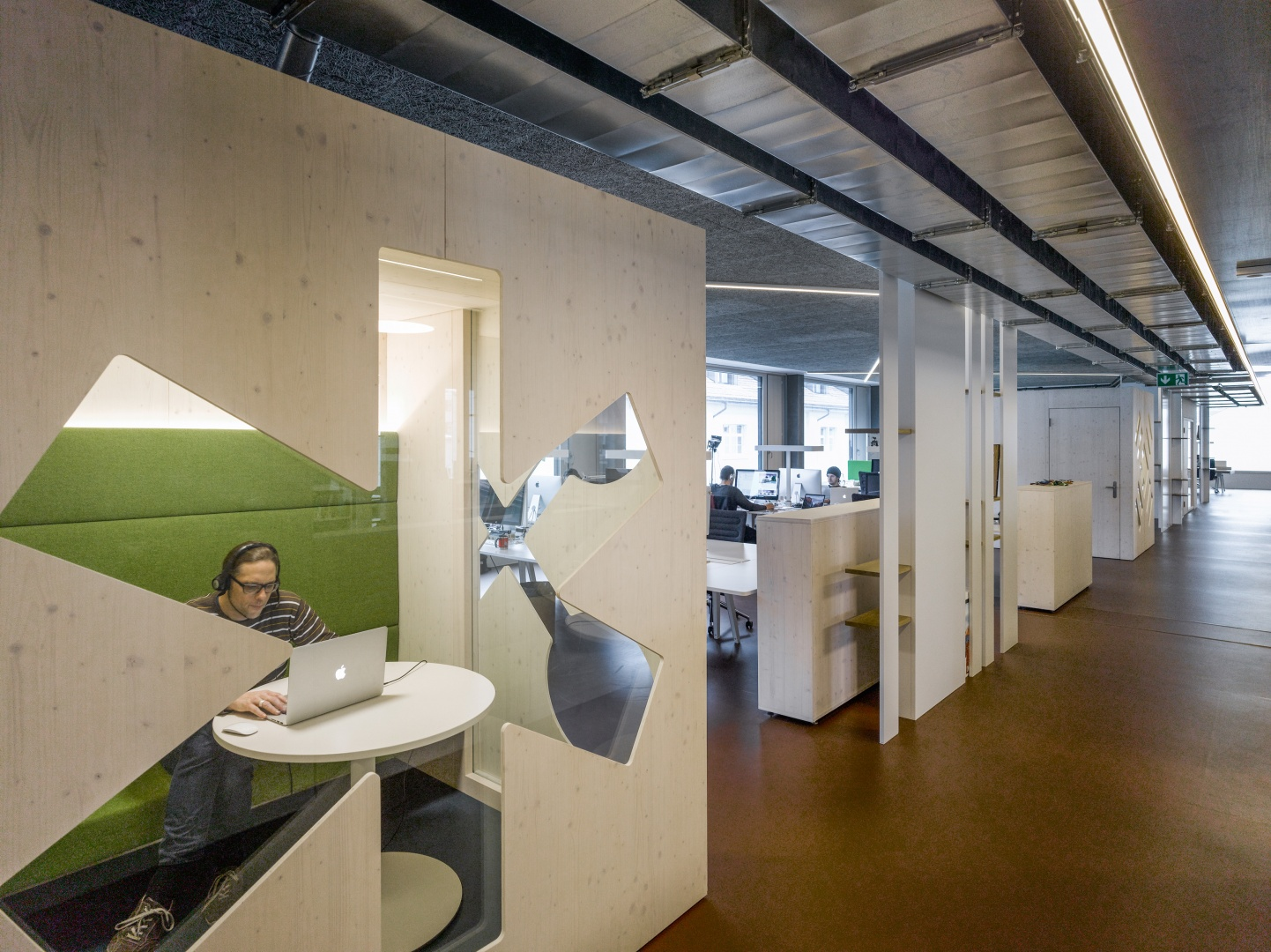 Büros 2. Obergeschoss © Johannes Marburg, Genf