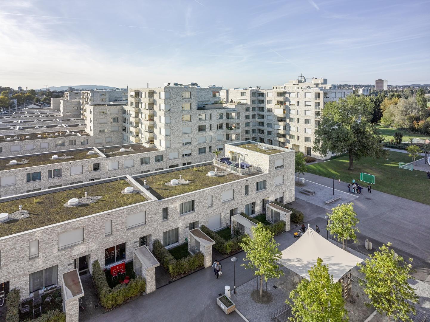 Blick auf Siedlung von Haus A © Johannes Marburg