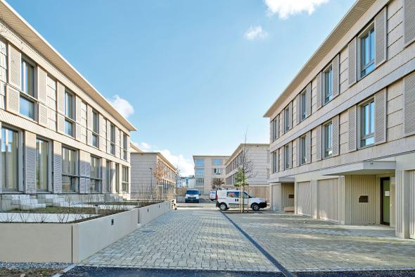 Die Stichstrassen sind zugleich Erschliessung, Eingang, Garten, Hofraum © Jürg Zimmermann