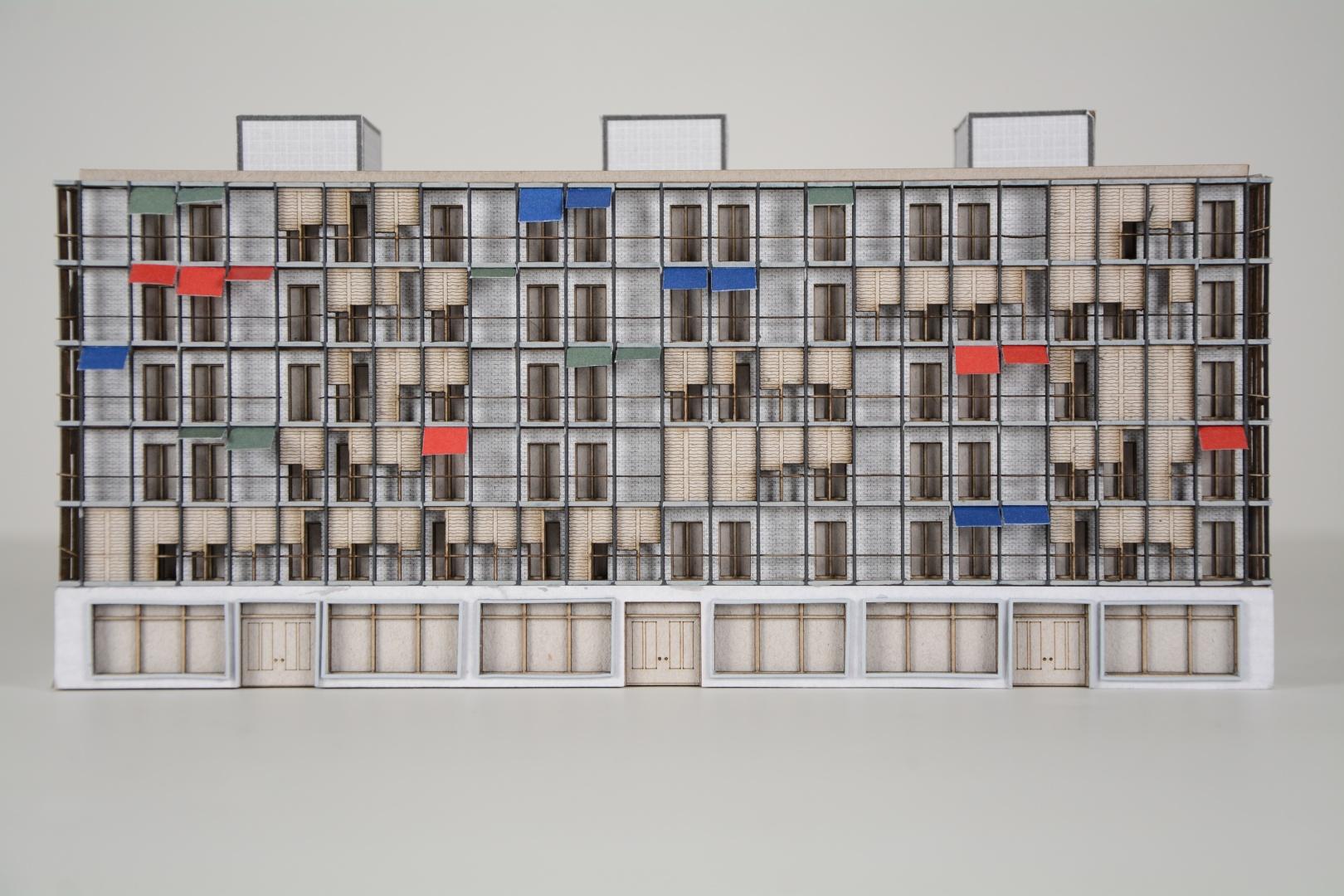Fassadenmodell Solitär Süd © Craveiro / Zahler