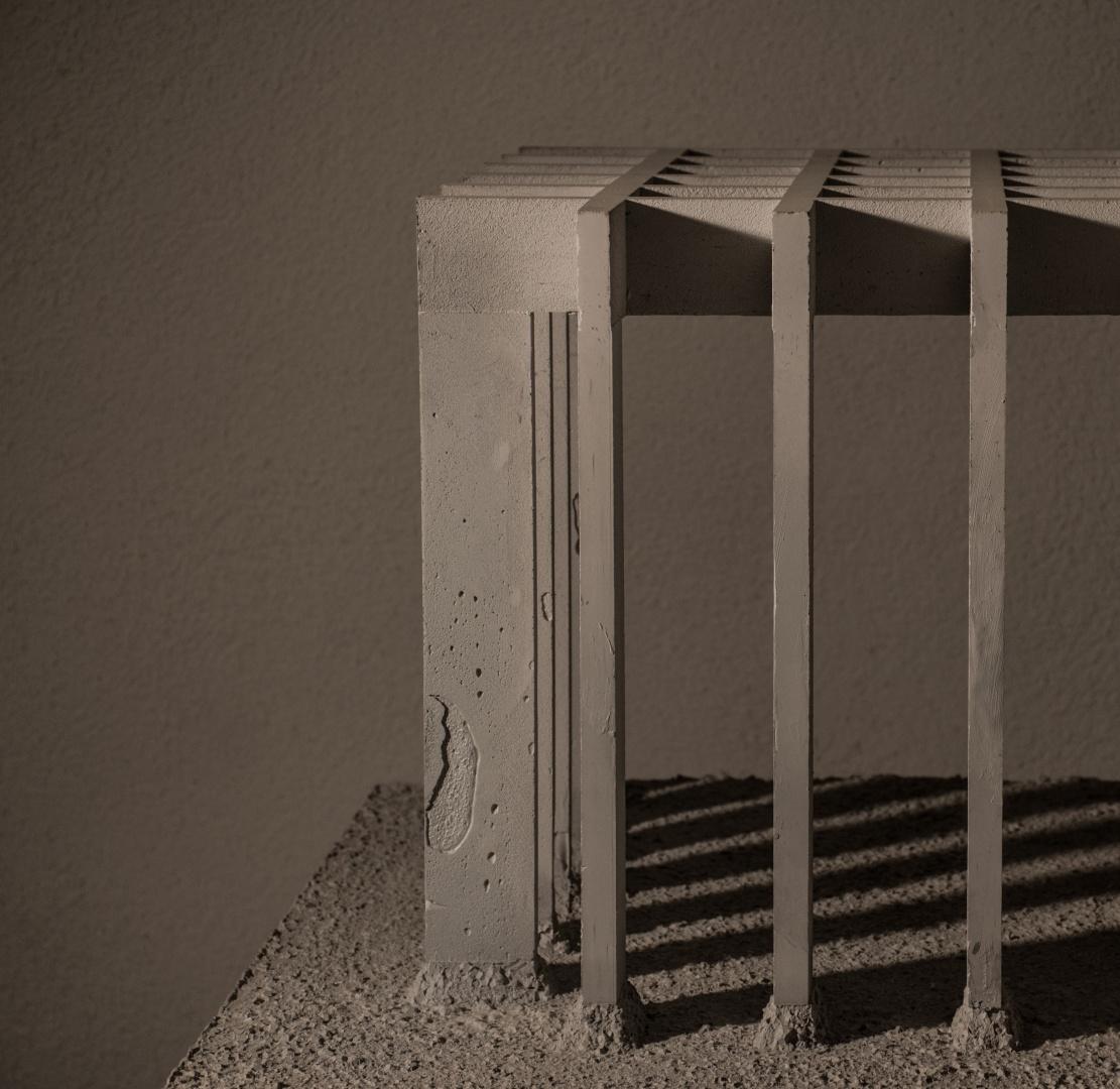 Modell Ausschnitt I Gebäudestruktur außen © Barbara Ruech