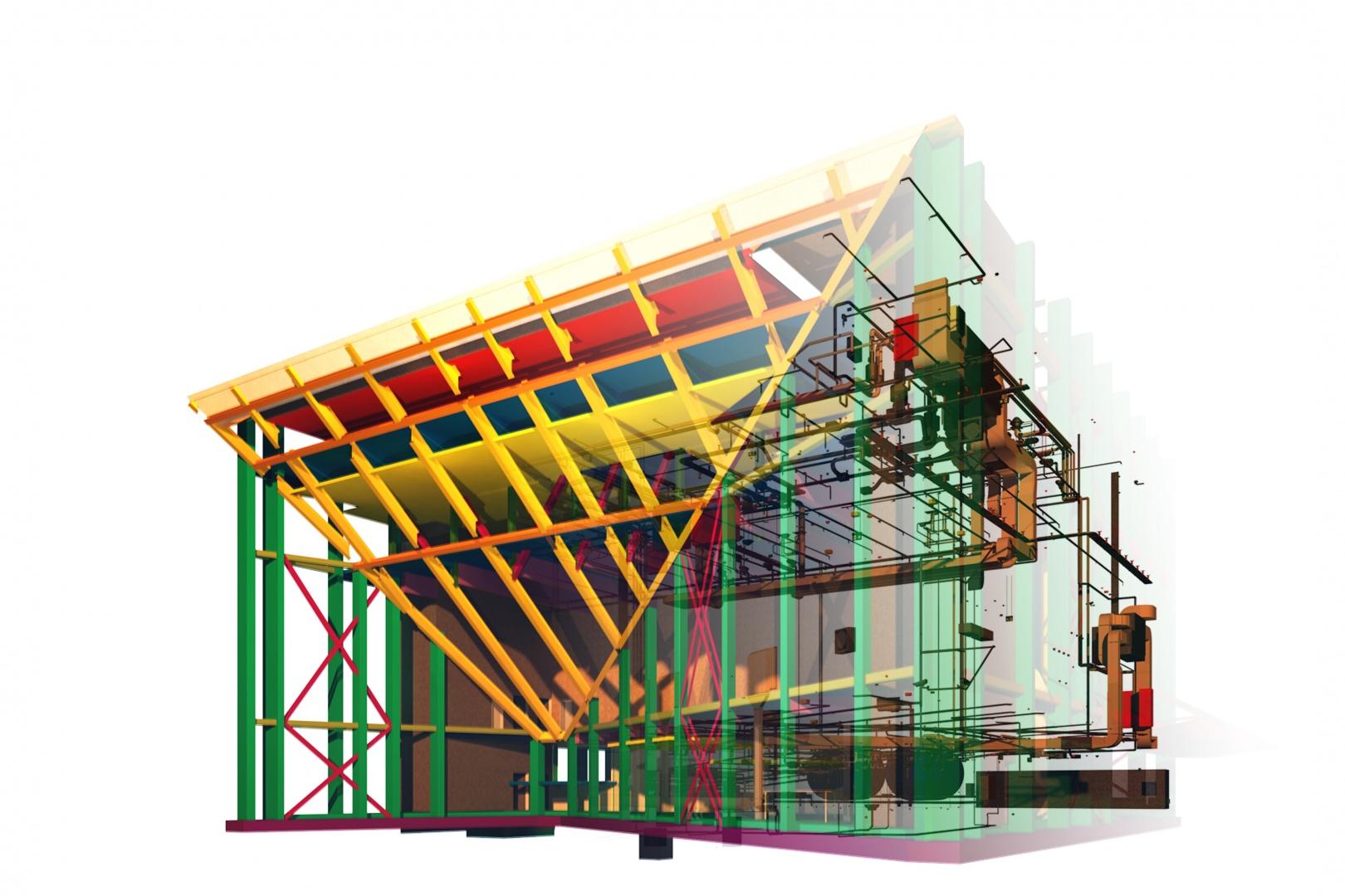 Tragwerk- und Haustechnikmodell © OOS AG