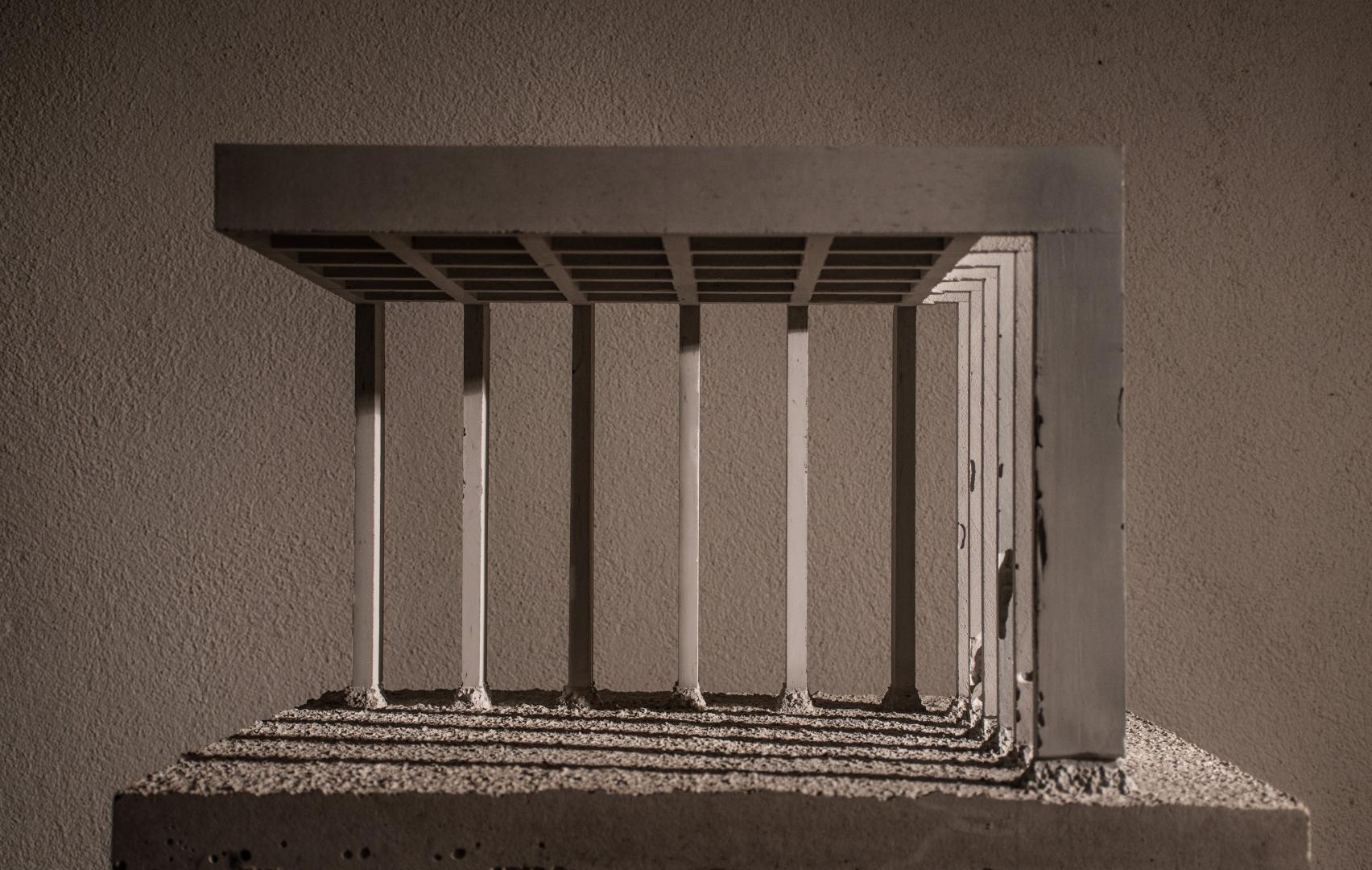 Modell Ausschnitt I Gebäudestruktur innen © Barbara Ruech