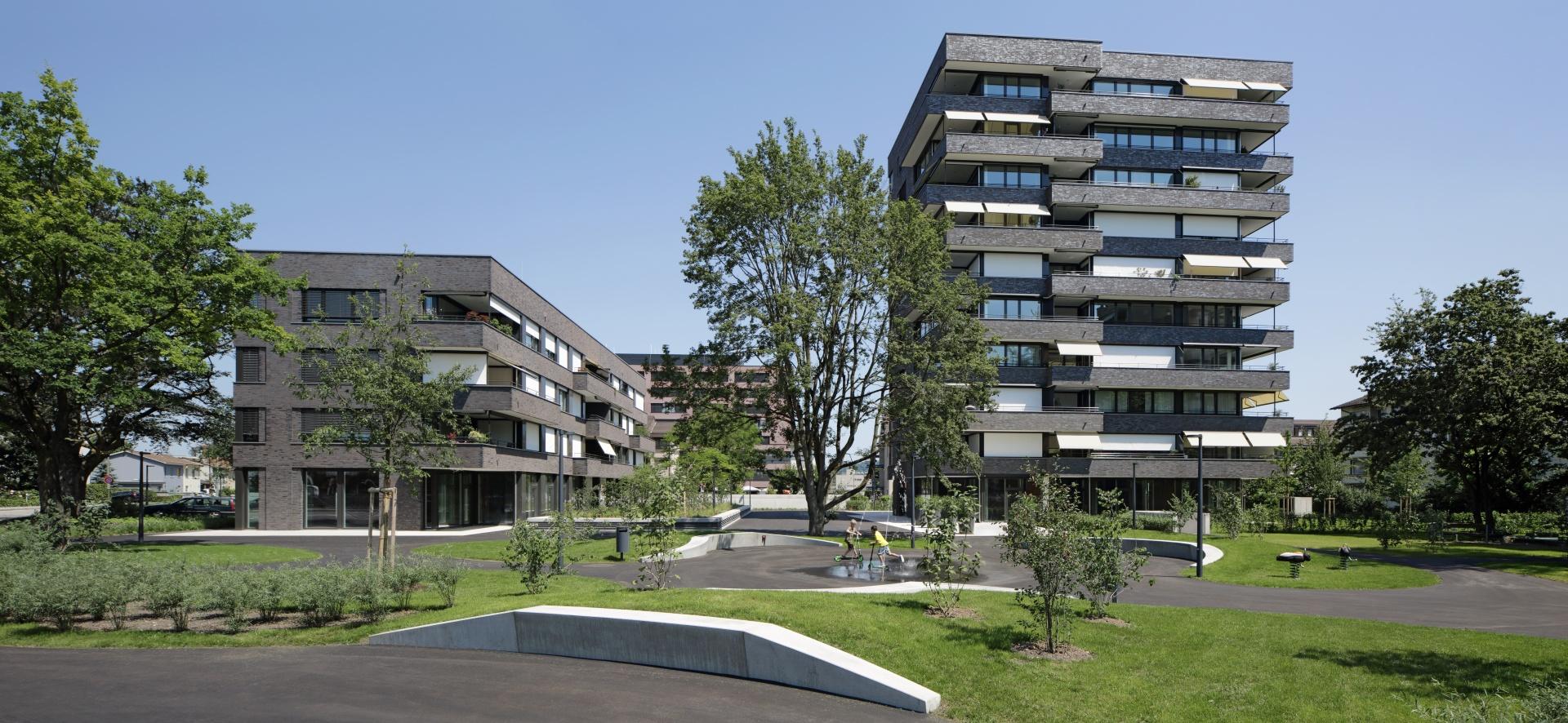 Lutzertgarten_Fassade_Süd © Tom Bisig, Basel