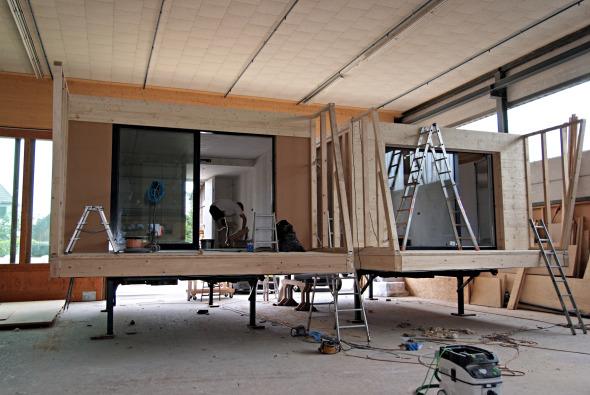 Herstellung der UNUS-Einheit unter Werkstattbedingungen © adan&partner architektur