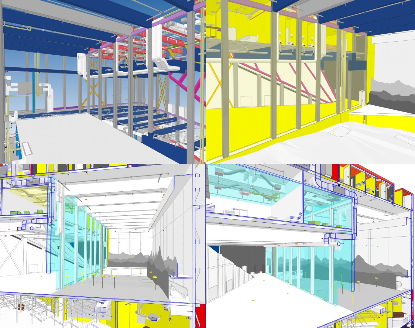 Koordinationsmodell Ausschnitte Innenräume © OOS AG