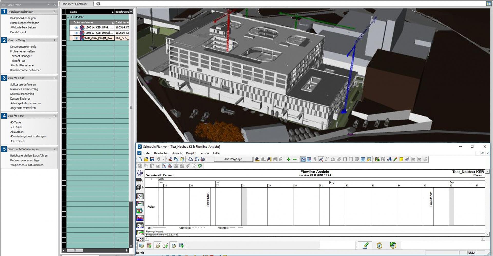 Vico Office Terminablaufplanung © Confirm AG
