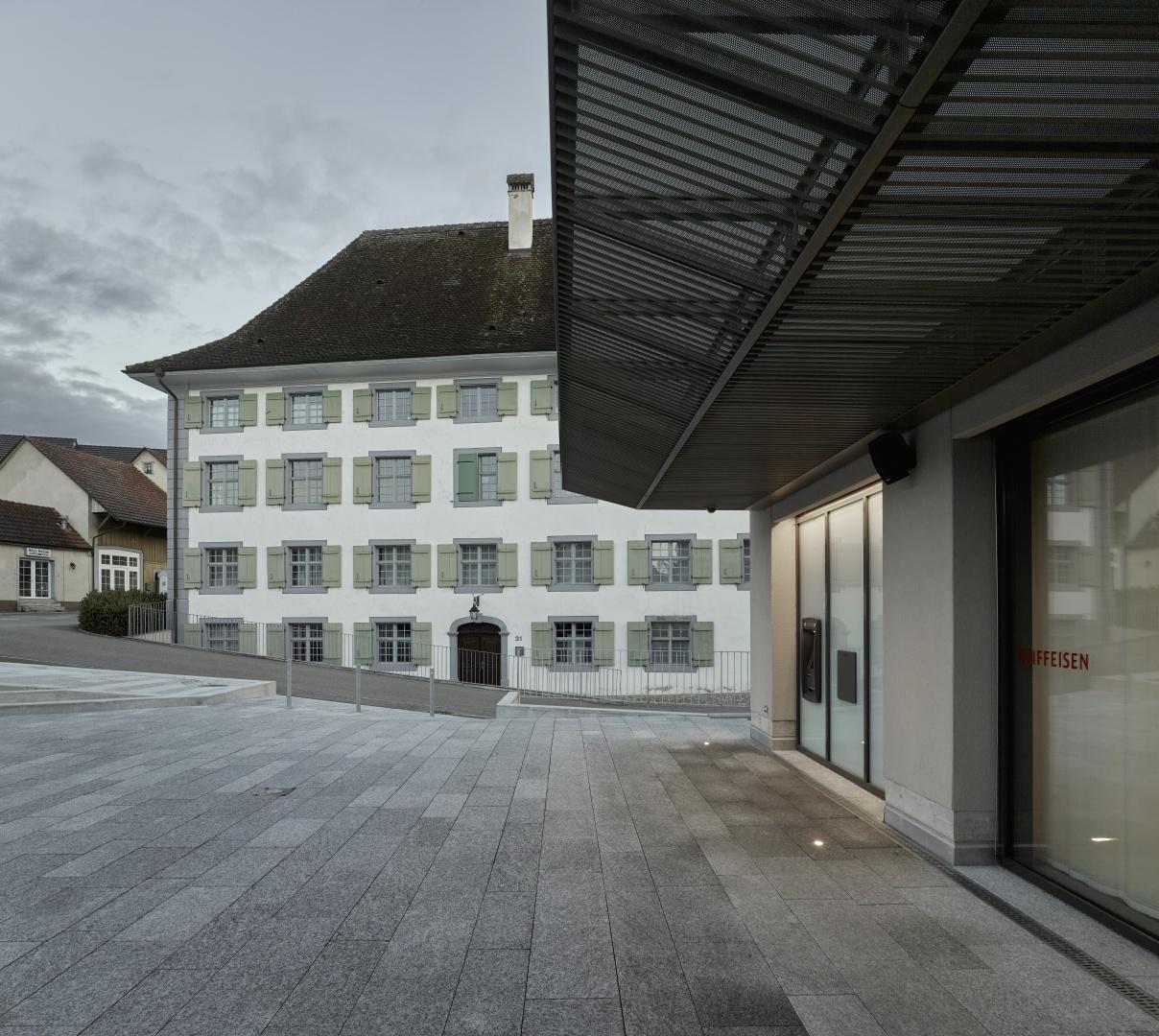Vordach Raiffeisenhaus © Christian Beutler, Im Sydefädeli 3, 8037 Zürich