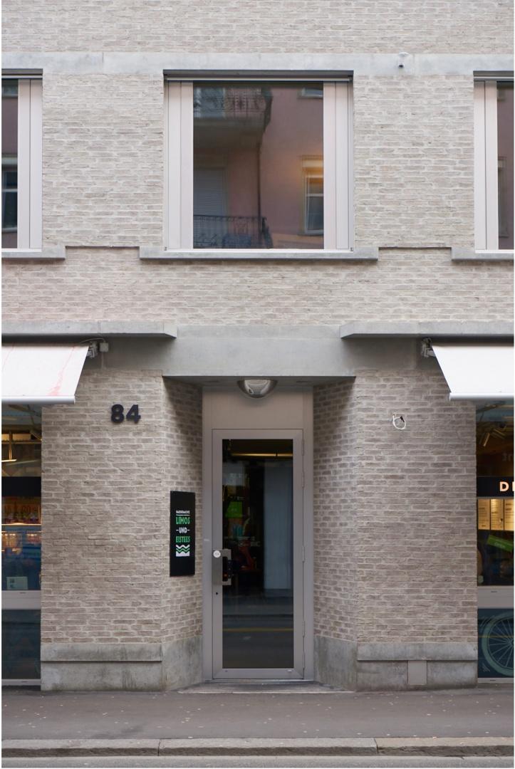 Eingang Gastronomie  © Kuster Frey, Stirnrütistr. 15, 6048 Horw