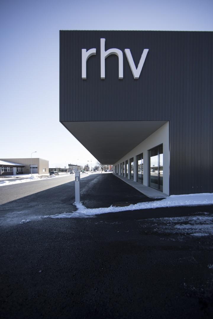 Schriftzug Firmensitz RhV © Michael Fenk