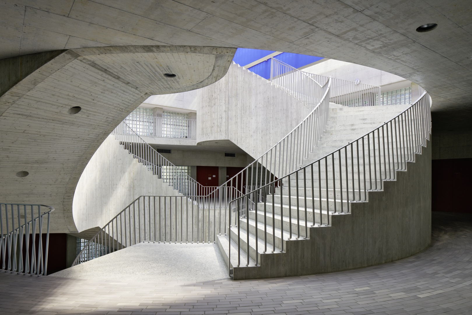 Treppenhaus Primarschule Vinci © Ralph Feiner