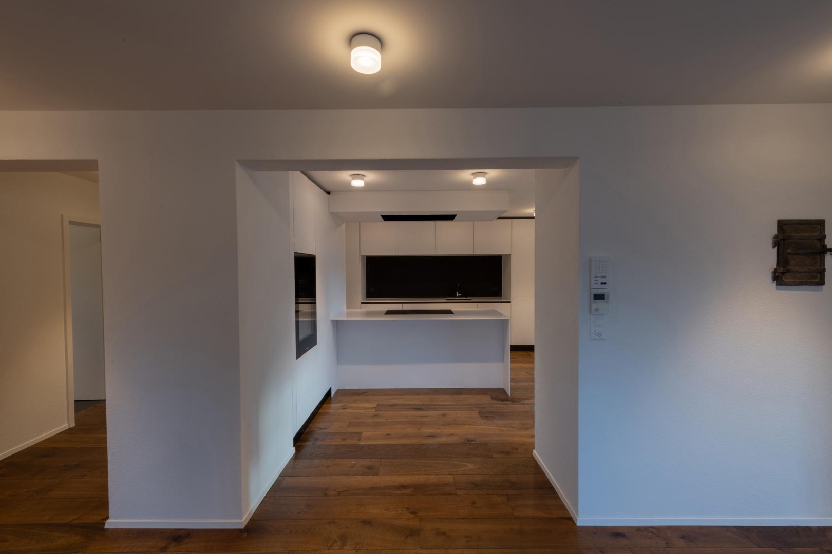 Küche im Obergeschoss © Raumtakt GmbH, Grubenstrasse 25, CH-8045 Zürich
