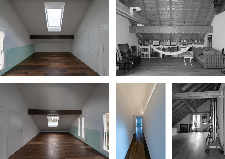 Kinderzimmer im Dachgeschoss - Vorher - Nachher  © Raumtakt GmbH, Grubenstrasse 25, CH-8045 Zürich