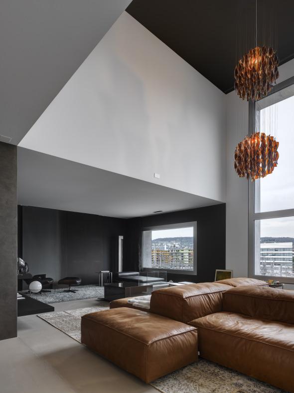 Pièce d'habitation indivduelle sur deux étages © Roger Frei, Zürich
