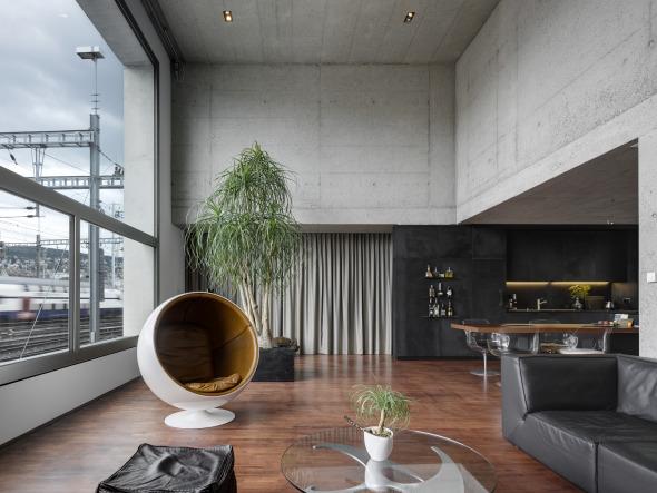 Zweigeschossige individuelle Wohnräume. © Roger Frei, Zürich