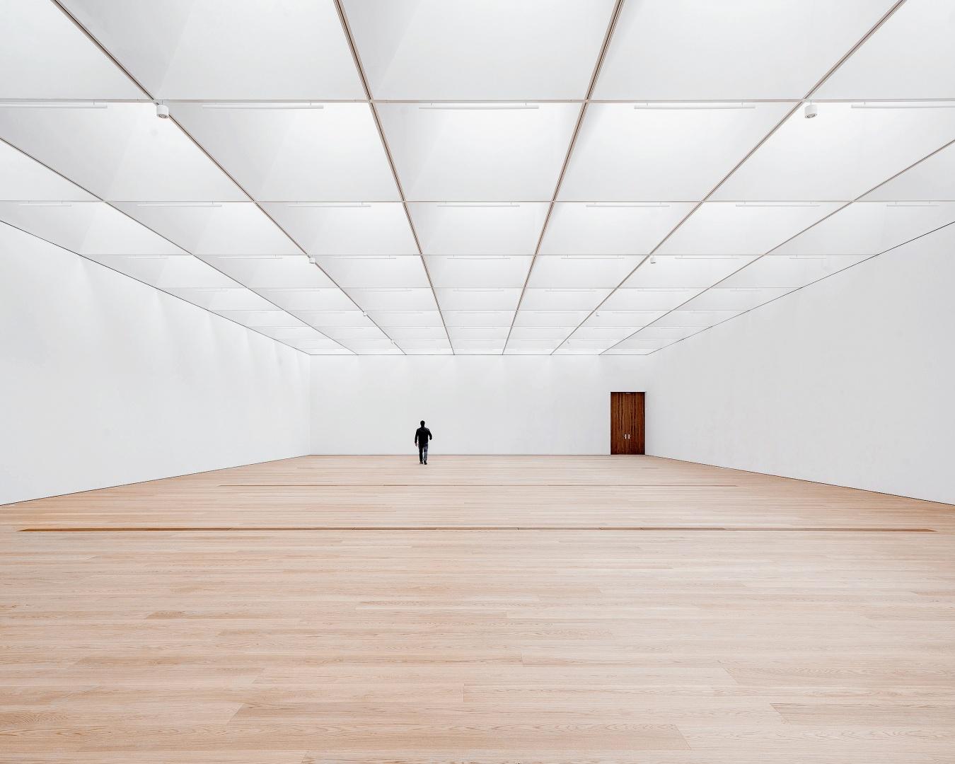 Les volumes des espaces muséaux sont modulables selon les besoins. © Matthieu Gafsou