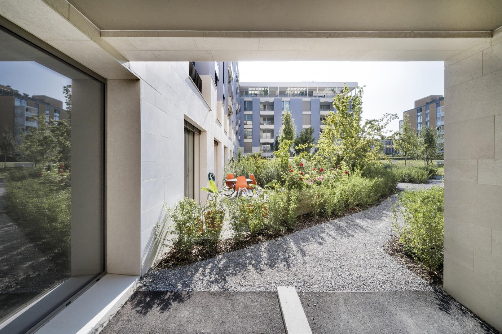 Blick in den Gartenhof © KMP Architektur AG, Wettingen