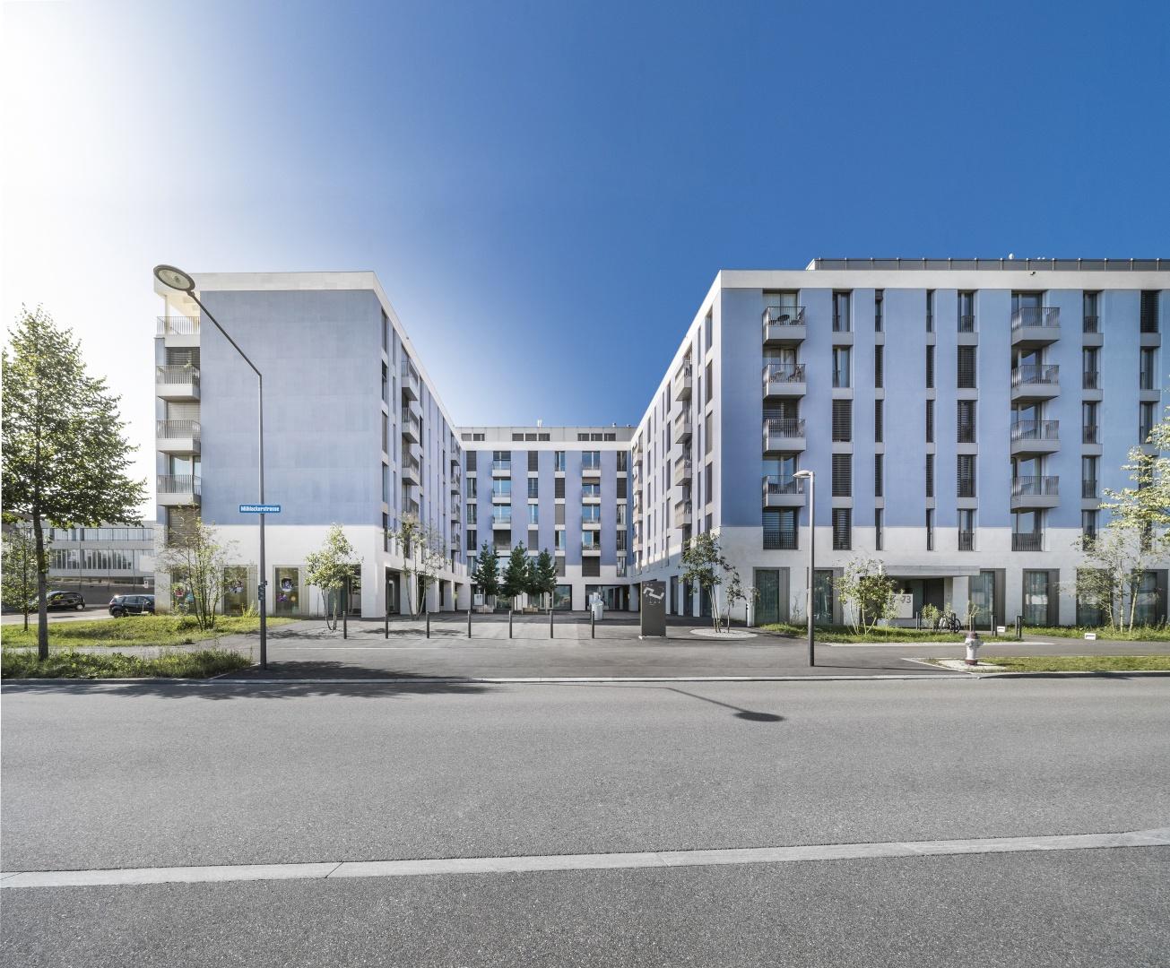 Blick in den Strassenhof © KMP Architektur AG, Wettingen