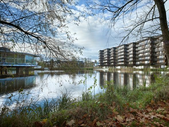 Industriestandort wurde in qualitätsvollen Lebensraum umgewandelt © Foto: Ruedi Walti, Basel