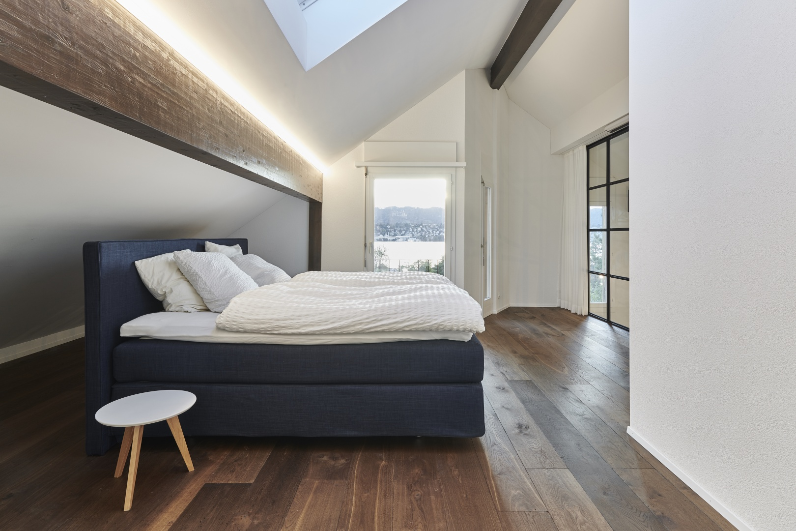 Elternschlafzimmer im Dachgeschoss © Gataric Fotografie, Flüelastrasse 10, 8048 Zürich