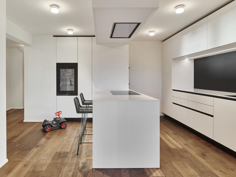 Küche im Obergeschoss © Gataric Fotografie, Flüelastrasse 10, 8048 Zürich