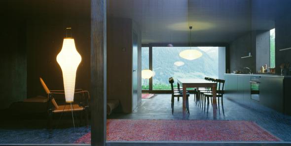 Erdgeschoss mit zweiseitiger Öffnung © Ruedi Walti, Basel