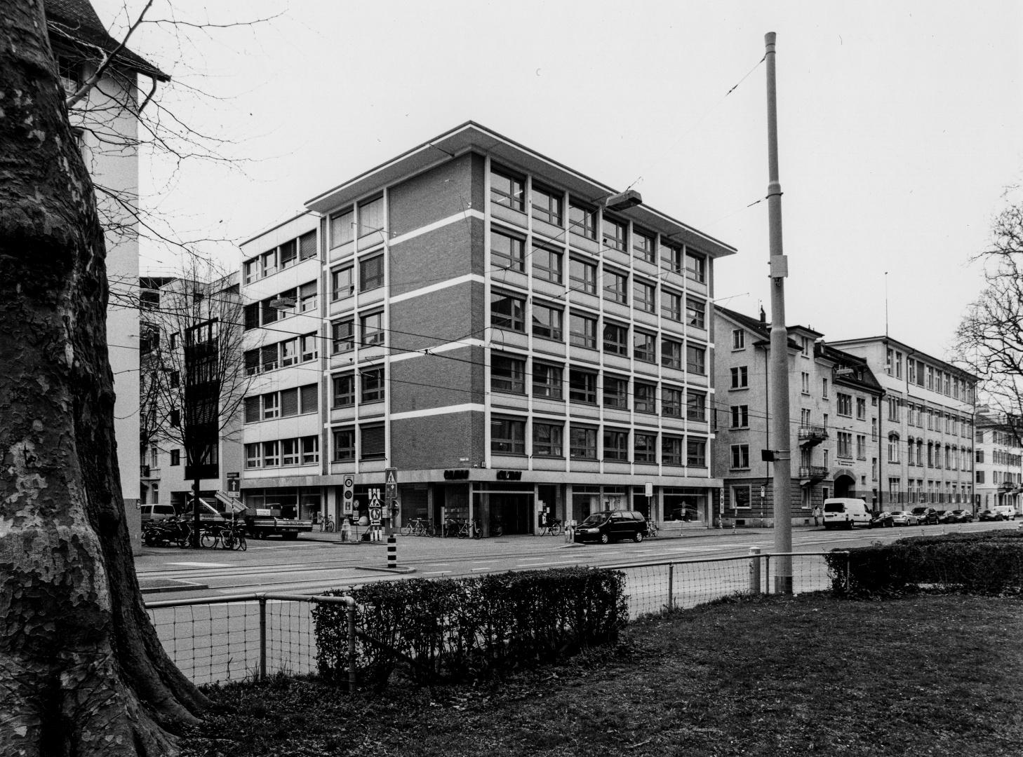 Bürohaus Walo Bertschinger, erbaut 1950 – 1959 Foto aus dem Baugeschichtlichen Archiv Zürich © Hanspeter Dudli