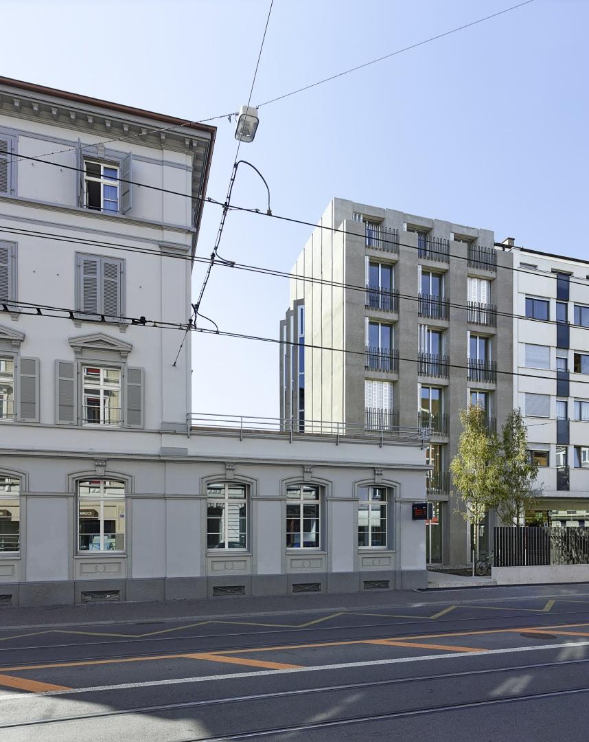 Instandsetzung und Neubau Klybeckstrasse 37, Basel  Stump&Schibli Architekten, Basel © Tom Bisig