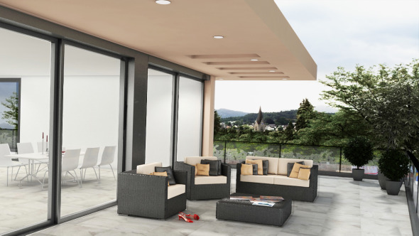 grosszügige Terrasse © Antonietty Architekten AG