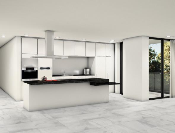 Wohn- und Küchenbereich © Antonietty Architekten AG
