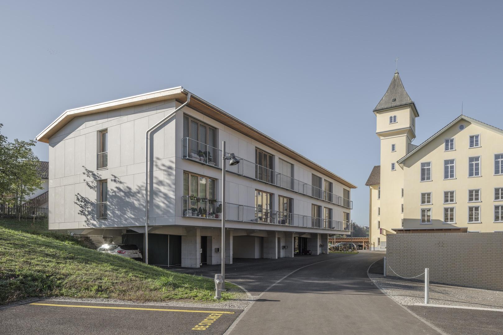 Vue extérieure © moos giuliani herrmann architekten, silvano pedrett